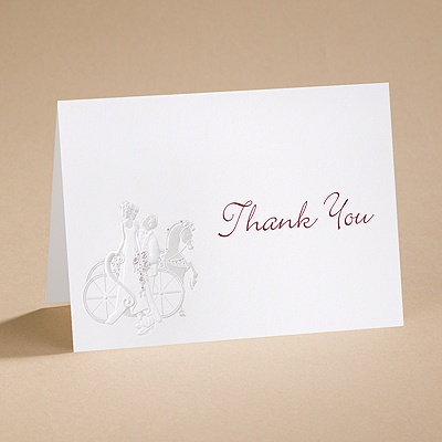 An Enchanted Ride - Thank You Card with Verse and Envelope