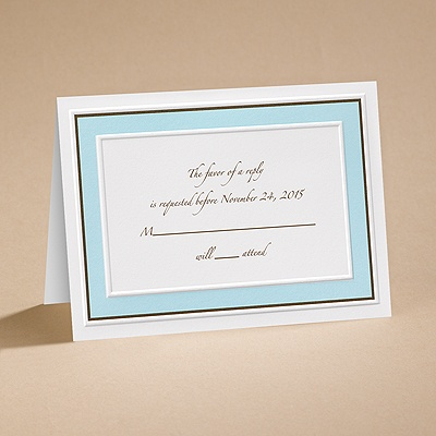 Teal Tones - Respond Card and Envelope