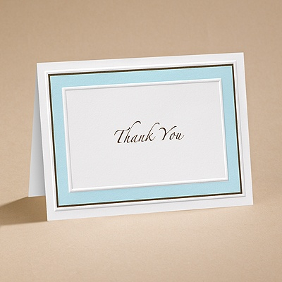 Teal Tones - Thank You Card with Verse and Envelope