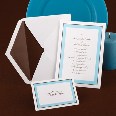 Teal Tones - Invitation