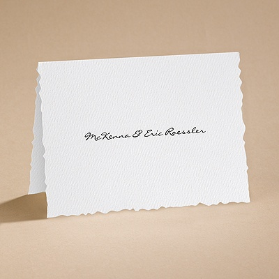 Textured Scalloped Edge - Notecard and Envelope