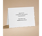 Textured Scalloped Edge - Reception Card