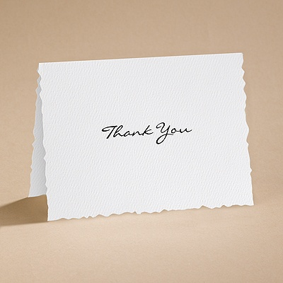 Textured Scalloped Edge - Thank You Card and Envelope