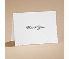 Textured Scalloped Edge - Thank You Card with Verse and Envelope