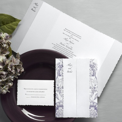 Botanical Beauty - Passion Purple - Invitation