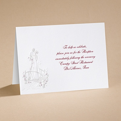 Love's Journey with Claret Accents - Reception Card
