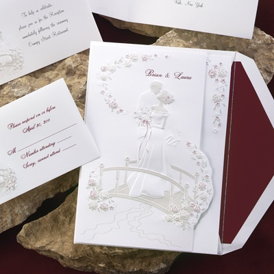Love's Journey with Claret Accents - Invitation