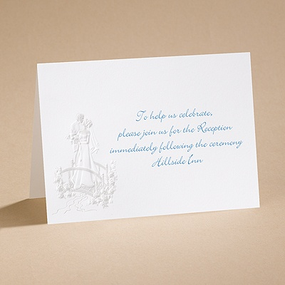 Love's Journey with Pearl Accents - Reception Card