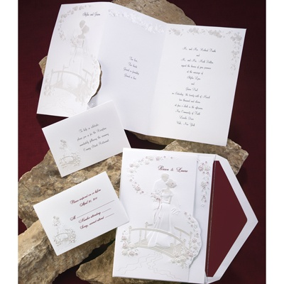 Love's Journey with Pearl Accents - Invitation