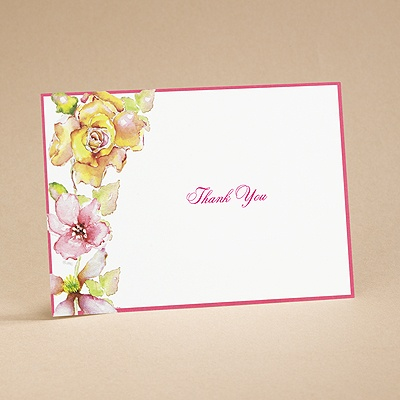 Tropical Blooms - Thank You Card and Envelope