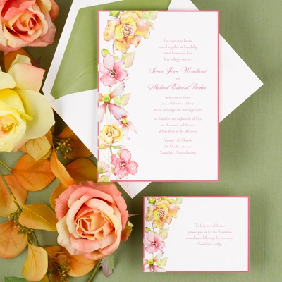 Tropical Blooms - Invitation
