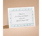 Gathering Seashells - Turquoise - Reception Card