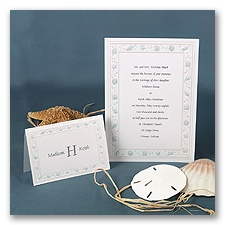 Gathering Seashells - Turquoise - Invitation