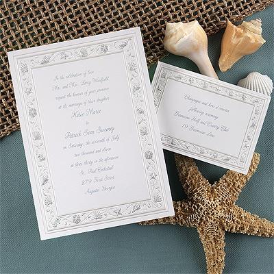 Gathering Seashells - Periwinkle - Invitation