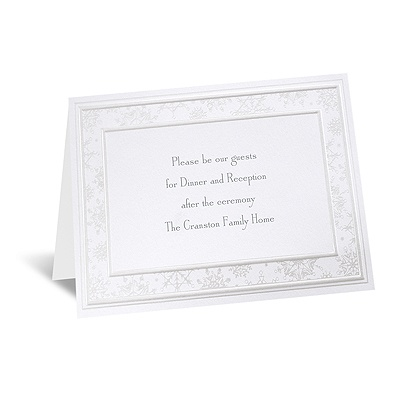 Snowflake Simplicity - Reception Card