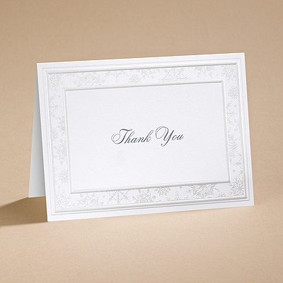 Snowflake Simplicity - Thank You Note - Blank Inside