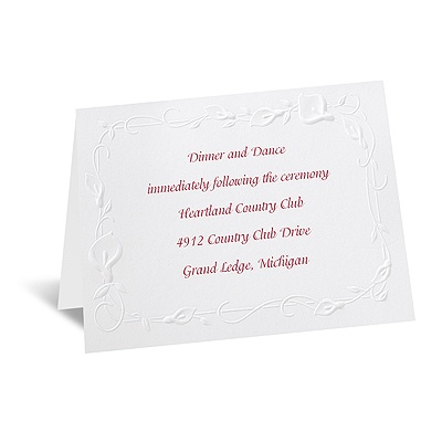 Beautiful Border - Reception Card