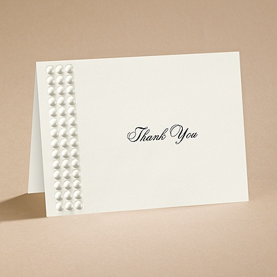 String of Pearls - Ecru - Thank You Card with Verse and Envelope