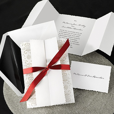 Pearl Damask - Invitation