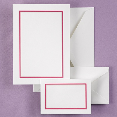 Bright Border - Fuchsia - DIY Invitation Kit