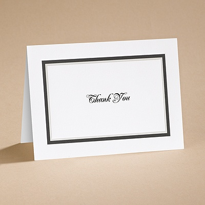 The Edge - Black - Thank You Card and Envelope