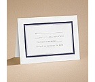 Bright Border - Navy - Respond Card and Envelope