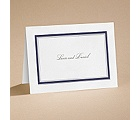 Bright Border - Navy - Note Card and Envelope