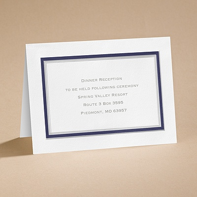 Bright Border - Navy - Reception Card