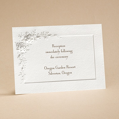 Roses for Love - Reception Card