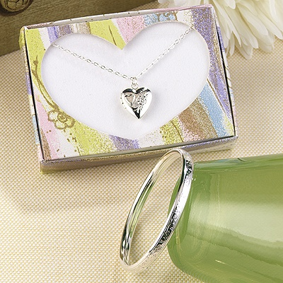 Bracelet and Heart Locket