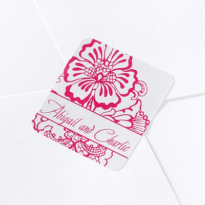 Flower Wedding Seals