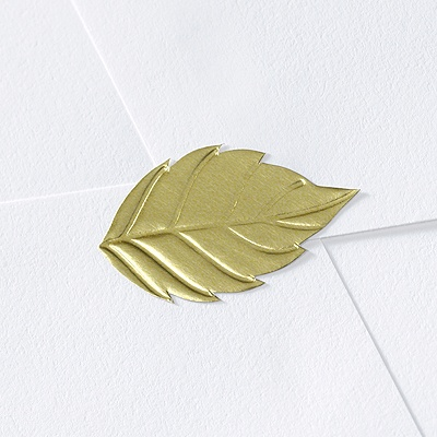 Blank Gold Leaf Wedding Seal