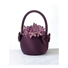 Regal Purple Flower Basket