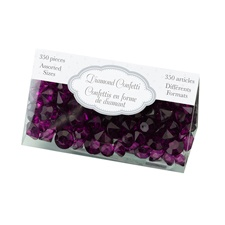 Purple Diamond Confetti