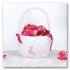Pink Floral Flower Basket