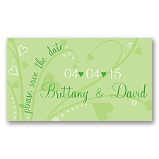 Get Your Date Noticed Green Save the Date Magnet