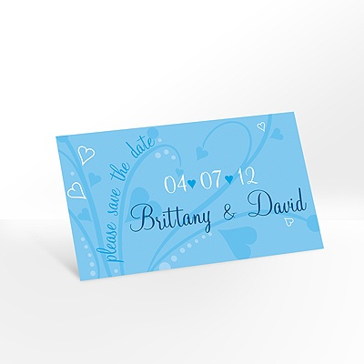 Get Your Date Noticed Blue Save the Date Magnet