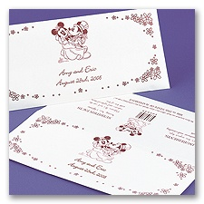 Mickey And Minnie Candy Bar Envelopes