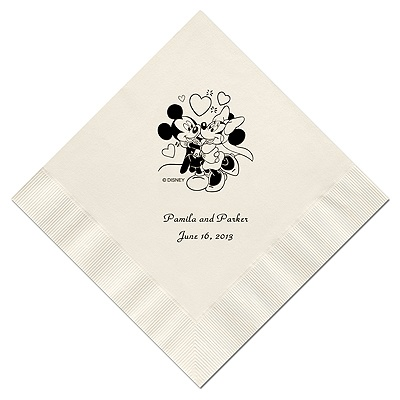 A Classic - Disney Ecru Dinner Napkin in Foil