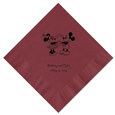 A Classic - Disney Wine Beverage Napkin in Foil