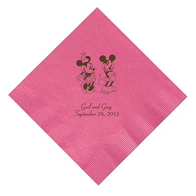 A Classic - Disney Fuchsia Dinner Napkin in Foil