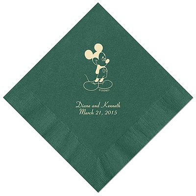 A Classic - Disney Hunter Dinner Napkin in Foil