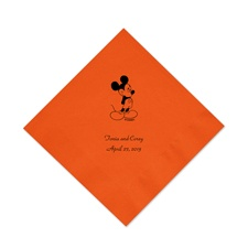 A Classic - Disney Orange Beverage Napkin in Foil
