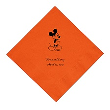 A Classic - Disney Orange Dinner Napkin in Foil