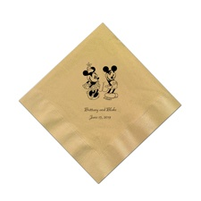 A Classic - Disney Gold Beverage Napkin in Foil