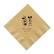 A Classic - Disney Gold Dinner Napkin in Foil