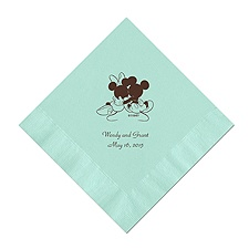 A Classic - Disney Aqua Dinner Napkin in Foil