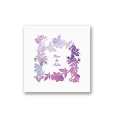 Watercolor Shades - Purple - White Cocktail Napkin