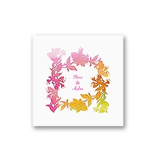 Watercolor Shades - Fuchsia - White Cocktail Napkin