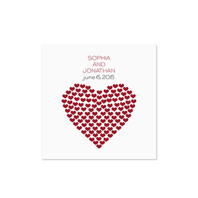 Heart of My Heart - White Cocktail Napkin